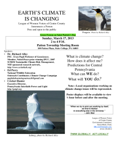 LWV Climate Change Forum