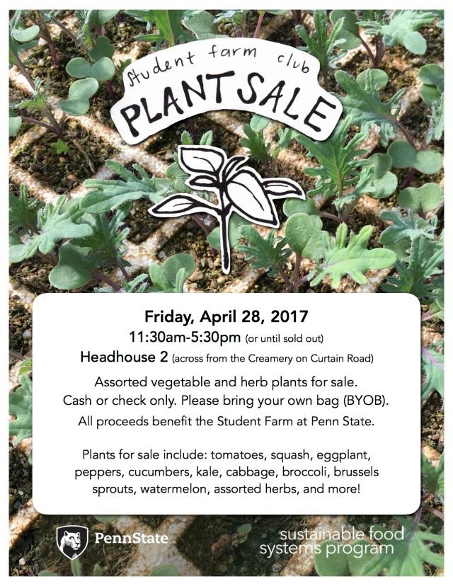 SFC Plant Sale 2017 info